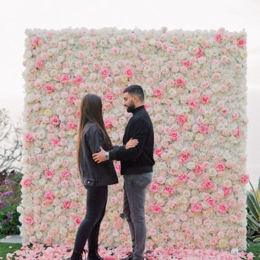 pink flower wall