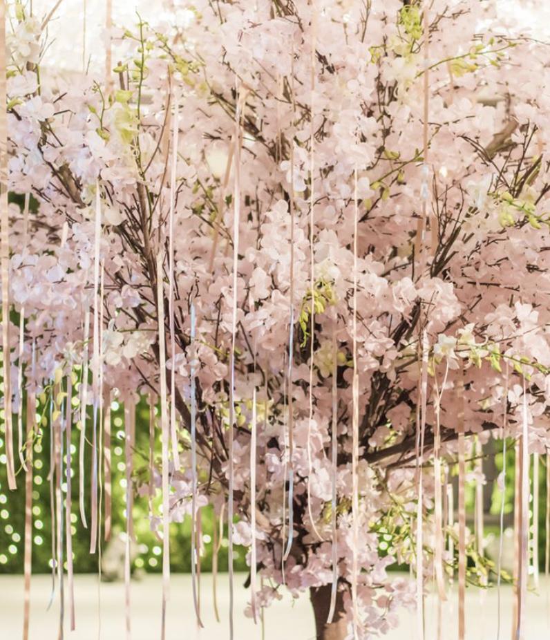 Cherry Blossom Tree Rental At A Luxury Wedding Cherry Blossom Tree Rental Design