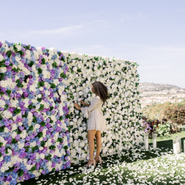 lavender flower wall