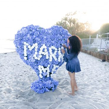 Marriage Proposal Heart Decor